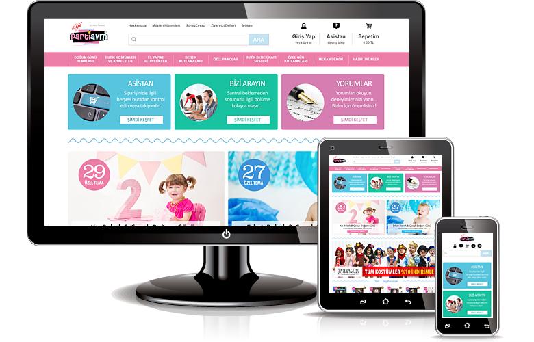 Parti Avm web tasarımı