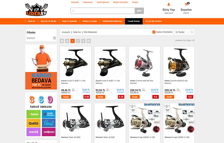Lider Av web tasarımı