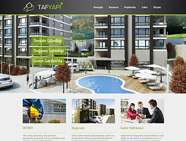 Taf Yapı İnşaat web tasarımı