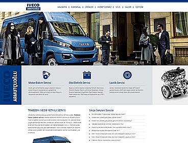 Armutçuoğlu Iveco web tasarımı