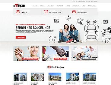 Ak İnşaat web tasarımı
