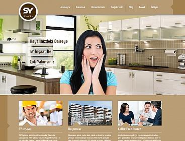 SY İnşaat web tasarımı