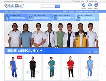Baki Kibar Medikal Giyim web tasarımı
