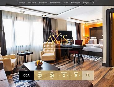 Axis Hotel web tasarımı